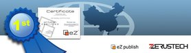 The 1st eZ Publish certified company in China