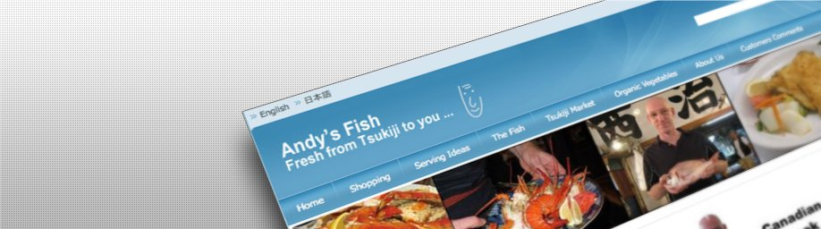 ANDY'S FISH Japan website